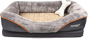 Orthopedic Dog Bed Memory Foam Pet Bed with Removable Washable Cover