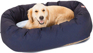 Pet Poly-Cotton Sherpa Bagel Dog Bed