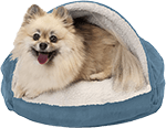 Furhaven Pet Bed Therapeutic Round Cuddle